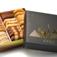 Coffret « Paris or » $3,49 + costo de galletas al peso (incluye bolsa de obsequio)