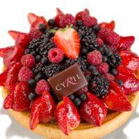 •Masa azucarada •Crema Frangipane •Frutos rojos según la temporada (frutilla, frambuesa, mora y mortiño) Sugerencia: servir frío.