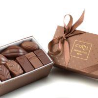 Coffret maison noir et lait 16 chocolates $13,75 (incluye bolsa de obsequio)