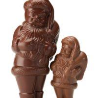 Disponible en chocolate negro y con leche Tamaño 1 $4,30 Tamaño 2 $8,20 Tamaño 3 y 4 $7,08/100gr
