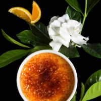 "Crème brûlée ""Queen's secret garden"""