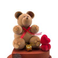 Figura elaborada en chocolate, disponible a la venta hasta el 14 de febrero. $27,94