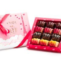 12 chocolates Love. Cuatro variedades, tres de cada uno. $12,95