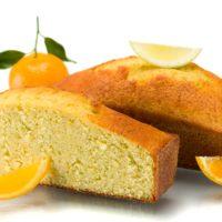 Cake de cítricos (limón, naranja y mandarina). 3-4 Pers. $4,05 6-7 Pers. $6,85 8-10 Pers. $9,00