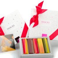 Boîte Snacks Chocolat 5 unidades. $14,35  (incluye bolsa de obsequio)